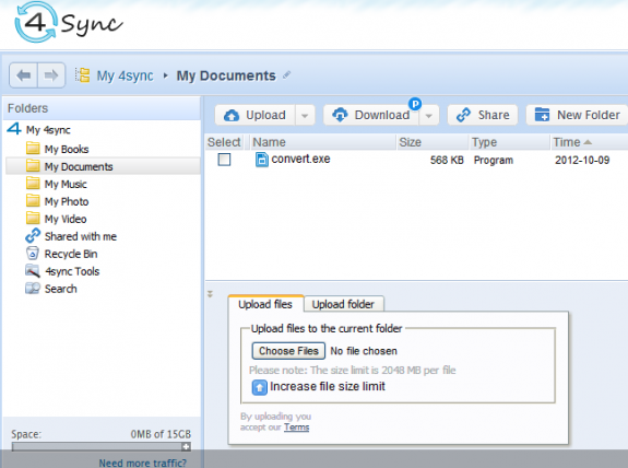 4Sync offering free 15GB cloud storage account 2