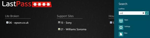 LastPass App for Windows 8 released 1